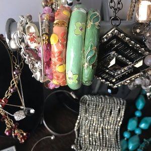 Jewelry - Jewelry Lot Necklaces Earrings Bracelets Pins etc.